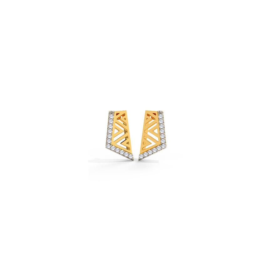 Linear Aztec Stud Earrings