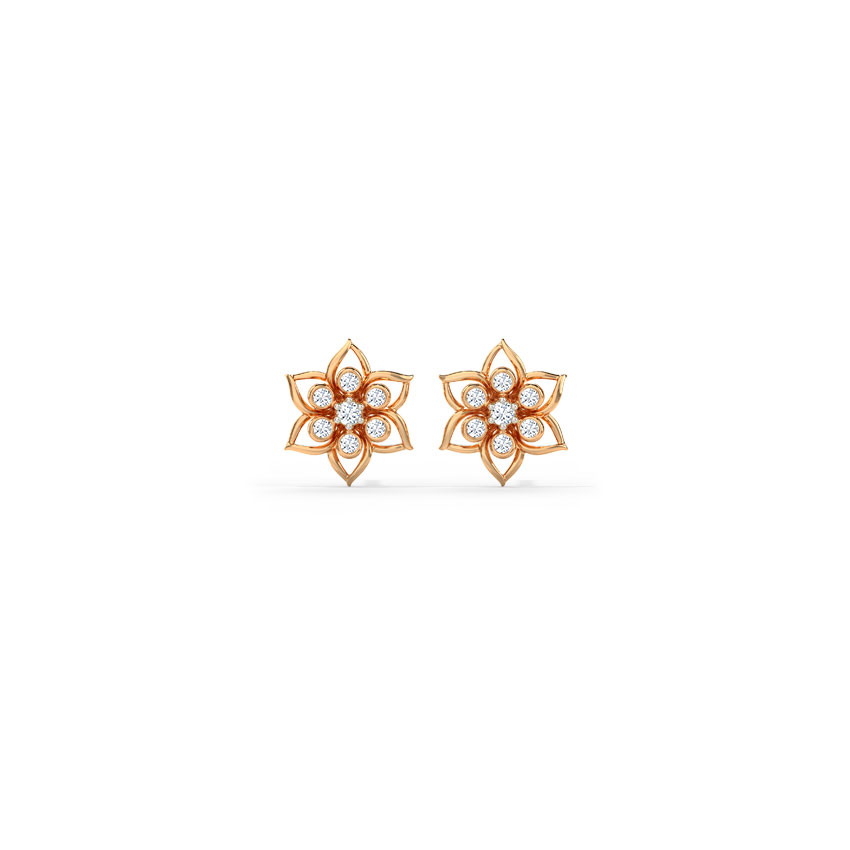 Delicate Flora Stud Earrings