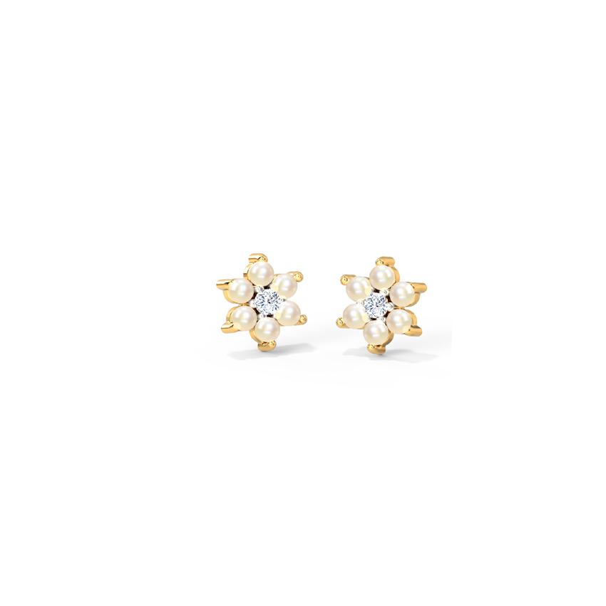 Pearly Bloom Stud Earrings