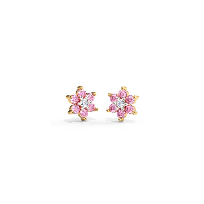 Blush Bloom Stud Earrings