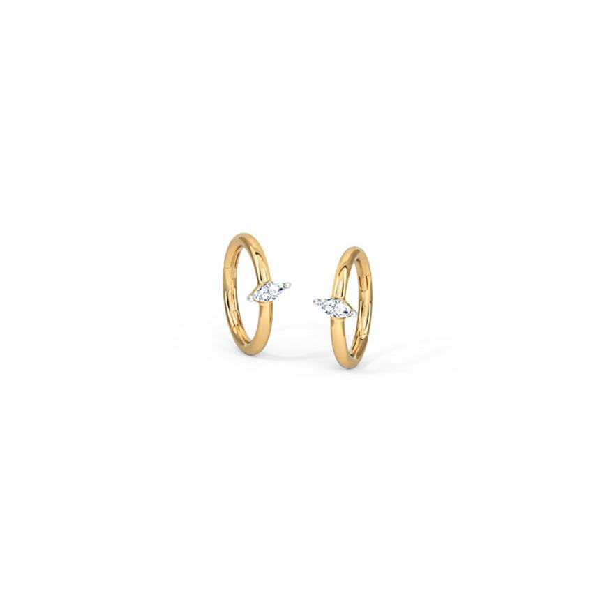 Dazzle Petal Hoop Earrings