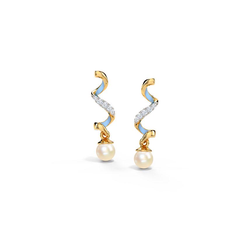 Azure Twirl Drop Earrings