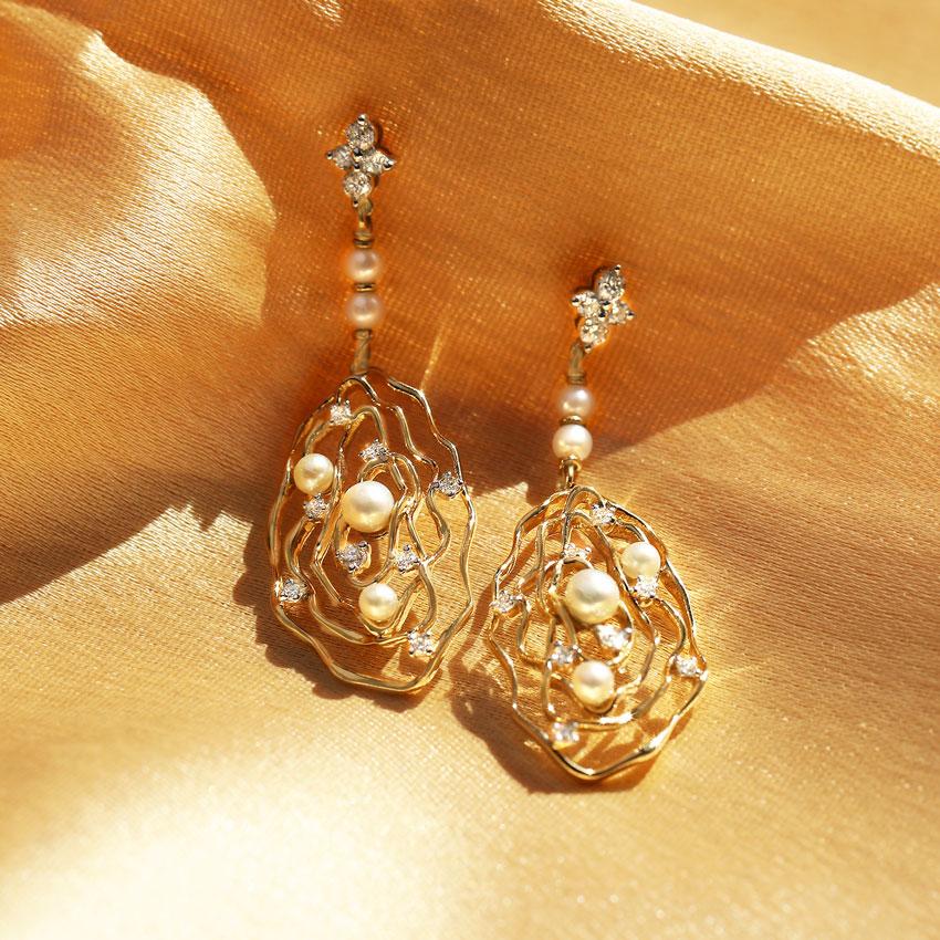 Twilight Pearl Drop Earrings