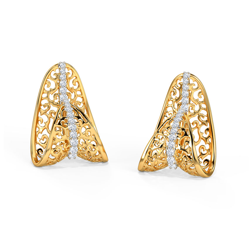 Anuva Ornate Stud Earrings