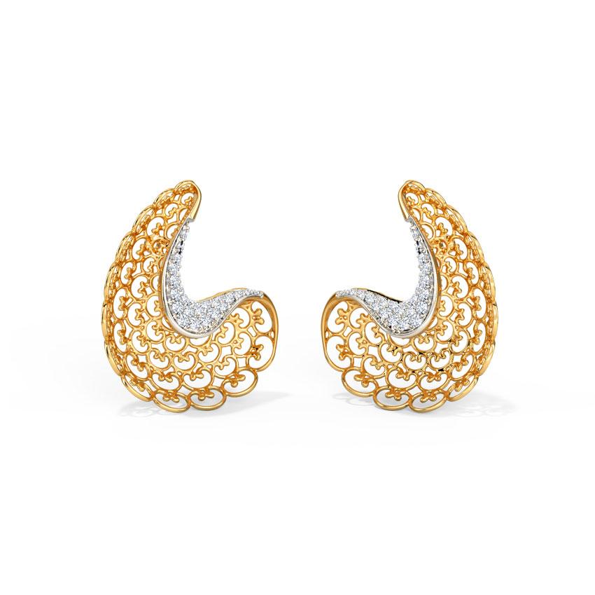 Alisha Ornate Stud Earrings