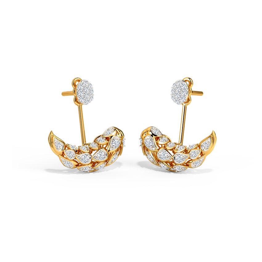 Diamond Earrings 18 Karat Yellow Gold Sunkissed Diamond Ear Jackets