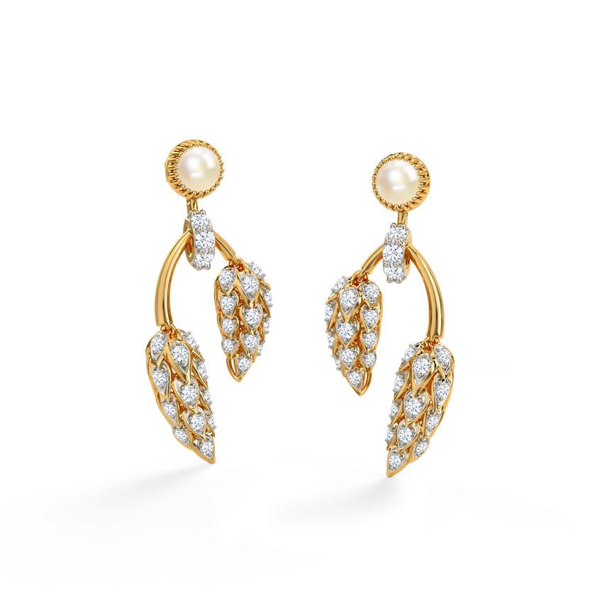Diamond,Gemstone Earrings 18 Karat Yellow Gold Sunshine Gemstone Drop Earrings