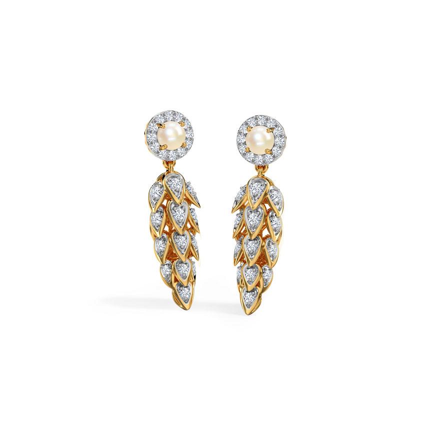 Diamond,Gemstone Earrings 18 Karat Yellow Gold Bright Gemstone Drop Earrings