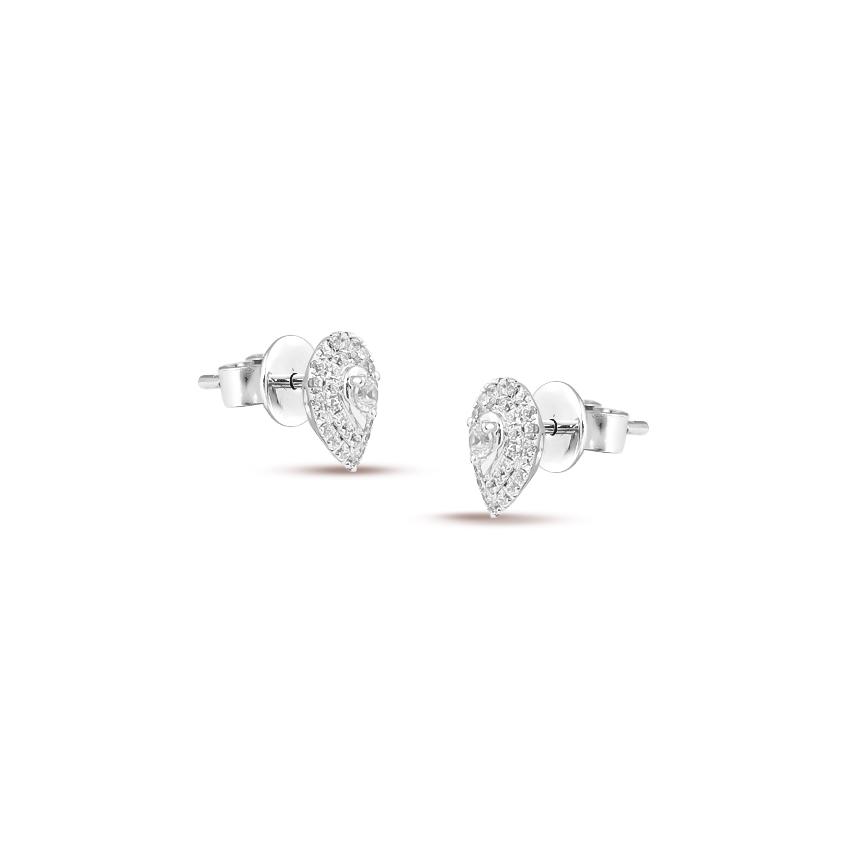 Graceful Pear Stud Earrings