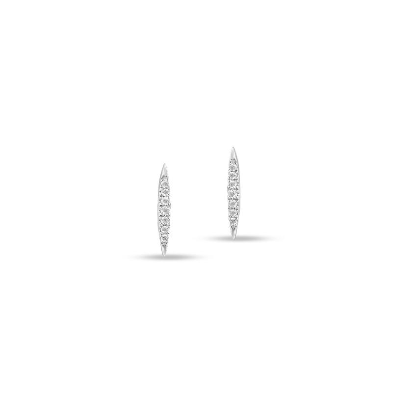 Diamond Earrings 14 Karat White Gold Classic Marquise Stud Earrings