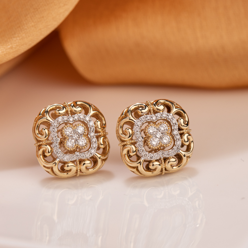 Imperial Diamond Stud Earrings