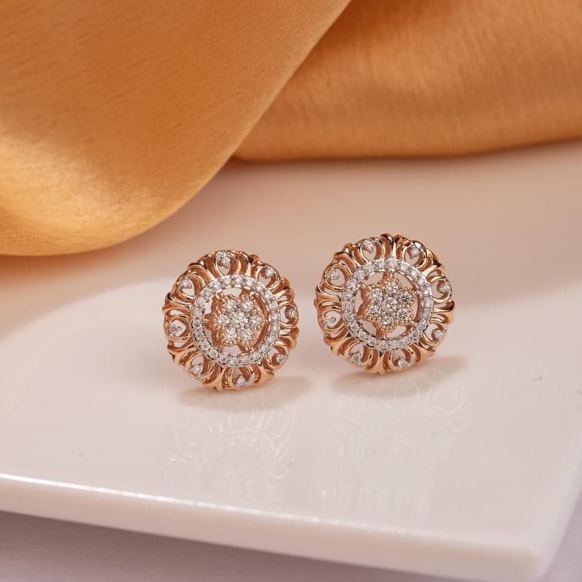 Majestic Diamond Stud Earrings