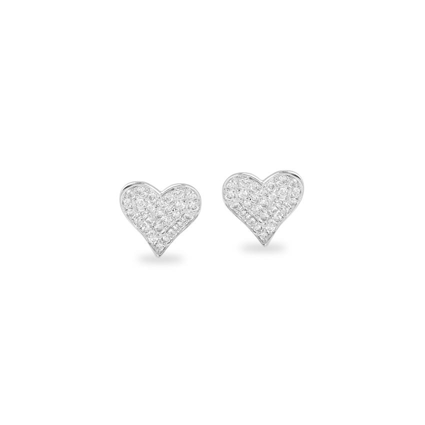 Glittering Love Stud Earrings