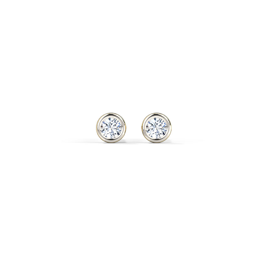 Diamond Earrings 14 Karat Yellow Gold Radiance Classic Diamond Stud Earrings
