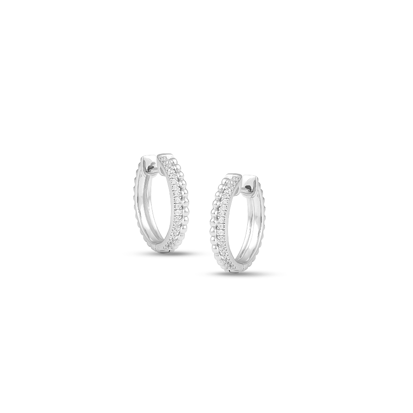 Diamond Earrings 14 Karat White Gold Amy Enticing Diamond Hoop Earrings