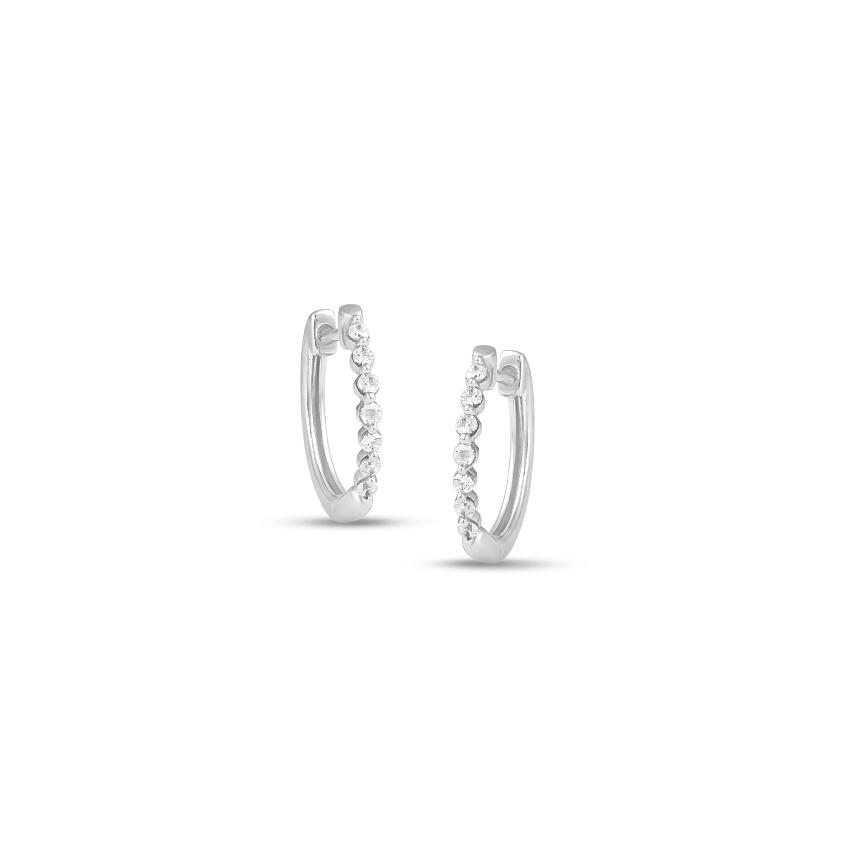 Diamond Earrings 14 Karat White Gold Aurora Darling Diamond Hoop Earrings