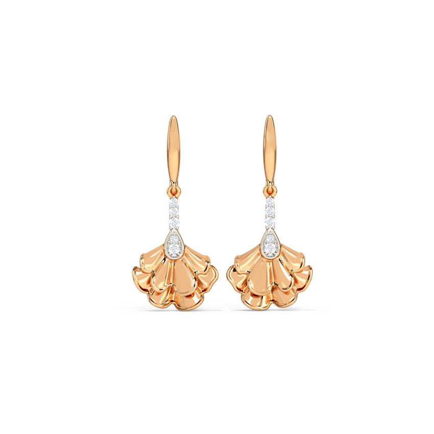 Diamond Earrings 14 Karat Rose Gold Rylie Diamond Drop Earrings