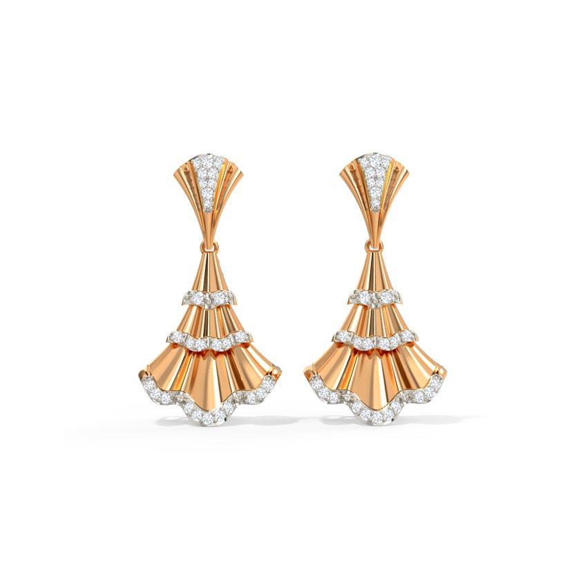 Diamond Earrings 14 Karat Rose Gold Lea Diamond Drop Earrings