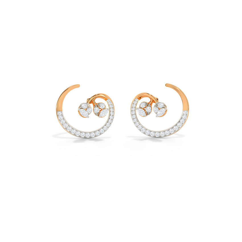 Diamond Earrings 14 Karat Rose Gold Shay Diamond Stud Earrings
