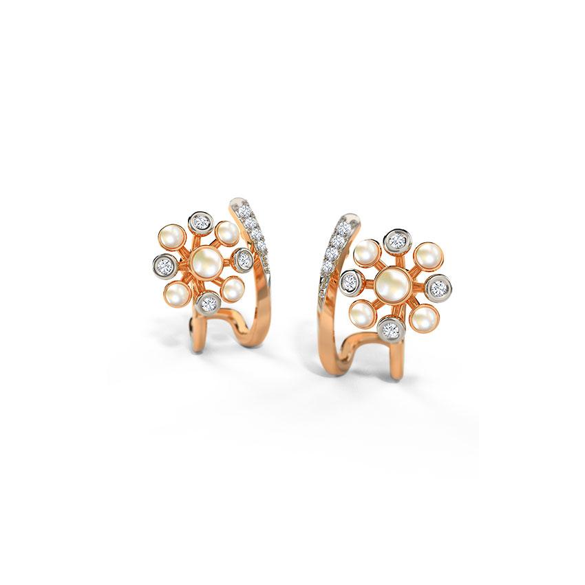 Diamond,Gemstone Earrings 14 Karat Yellow Gold Edlyn Gemstone Hoop Earrings