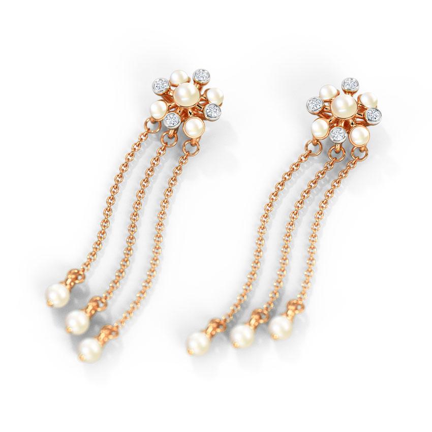 Diamond,Gemstone Earrings 14 Karat Rose Gold Eliene Diamond Drop Earrings