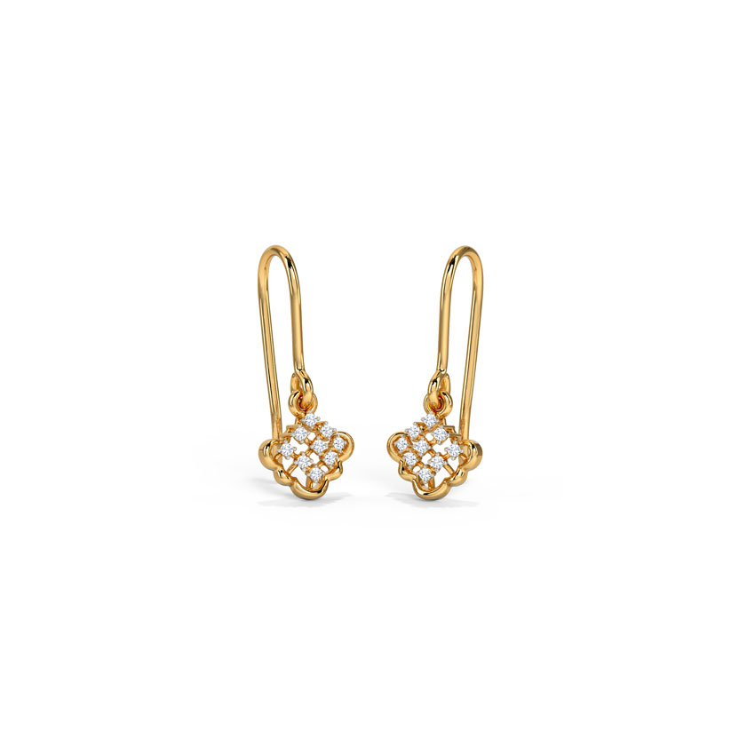 Diamond Earrings 14 Karat Yellow Gold Darling Diamond Drop Earrings