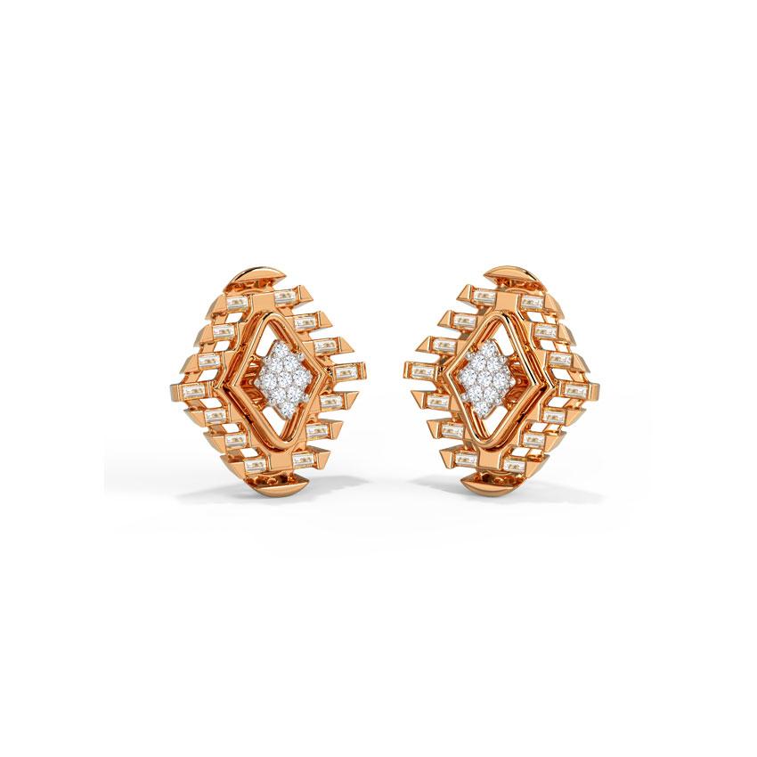 Diamond Earrings 14 Karat Rose Gold Faria Diamond Stud Earrings