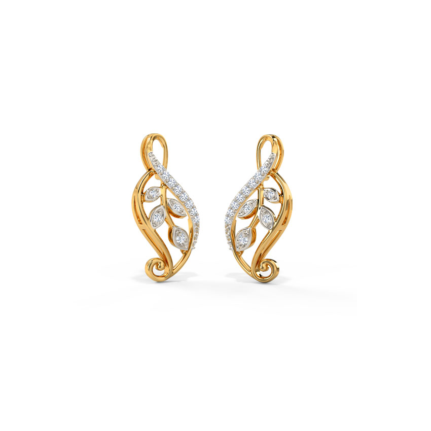 Diamond Earrings 14 Karat Yellow Gold Nora Pleasing Diamond Stud Earrings