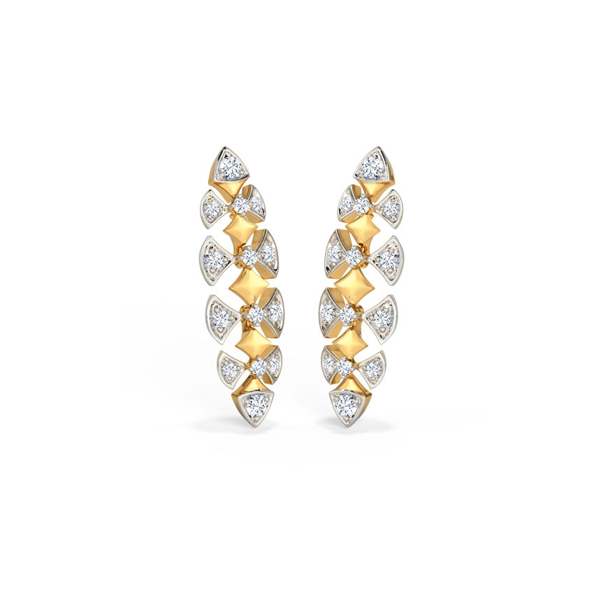 Diamond Earrings 14 Karat Yellow Gold Florena Diamond Drop Earrings