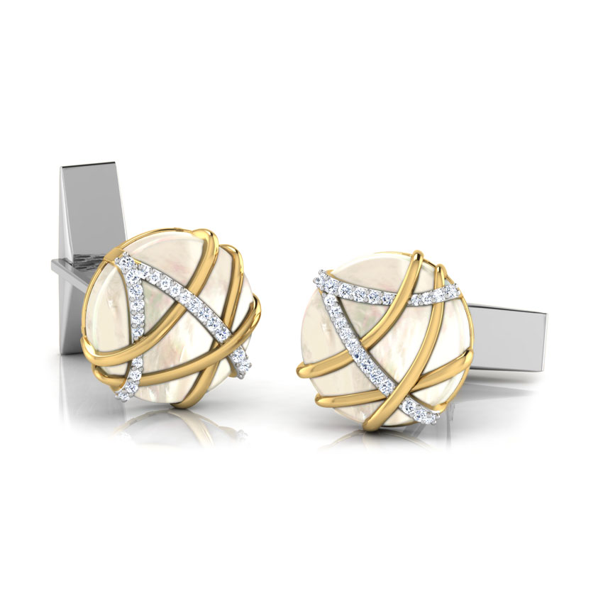 Adam Gold and Silver Cufflinks