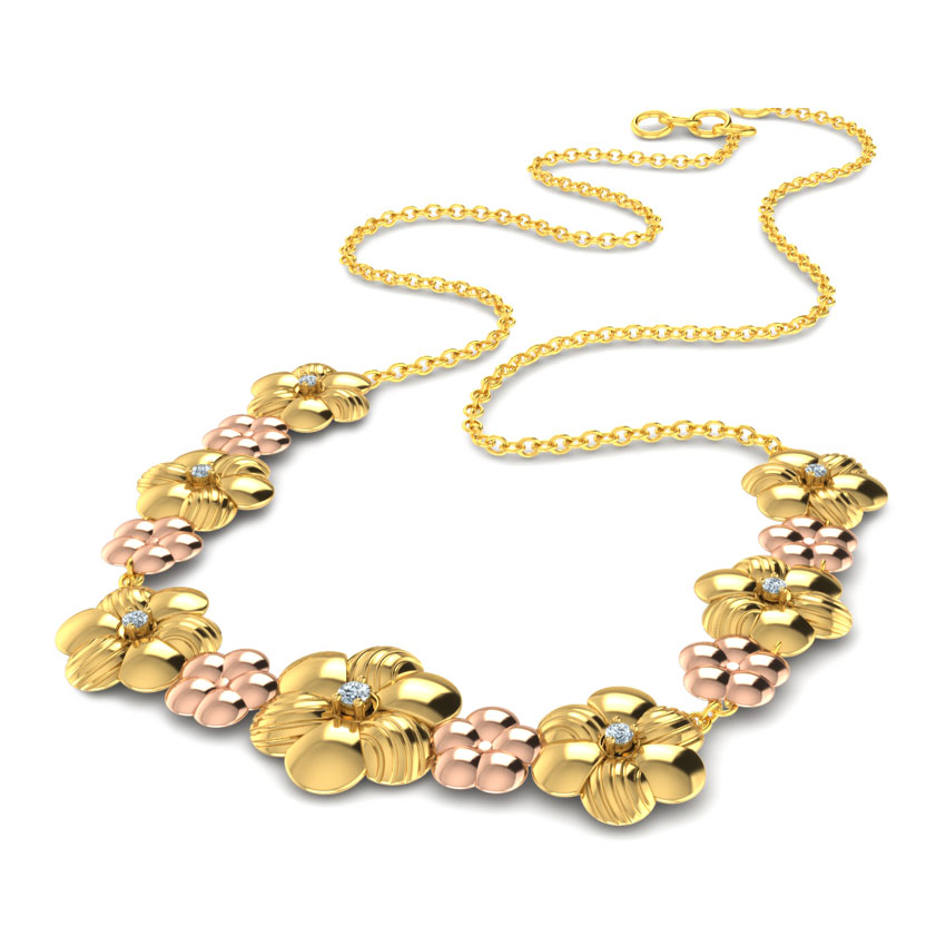Entwined Bloom Diamond Necklace