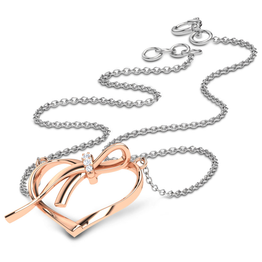 Heart and Knot Necklace