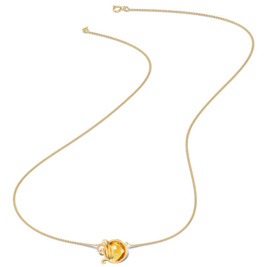 Ornate Scroll Necklace
