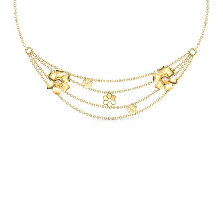 Plumeria Knot Necklace