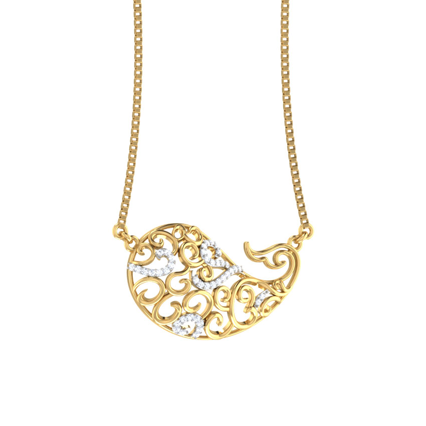 Erum Paisley Diamond Necklace