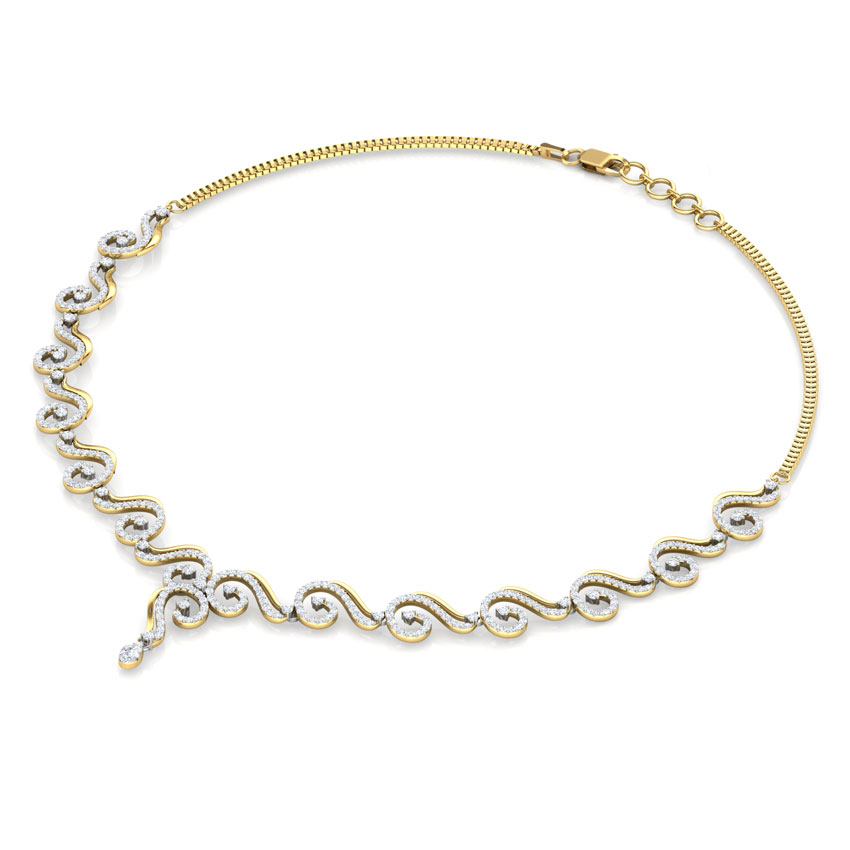 Twirl Linked Necklace
