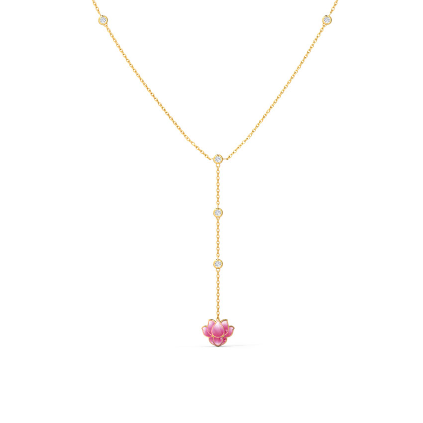 Dew Drops Lotus Necklace