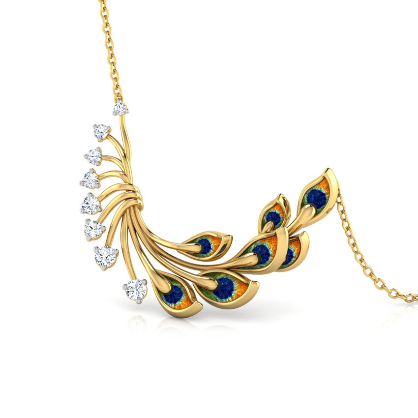 Royalty Peacock Diamond Necklace