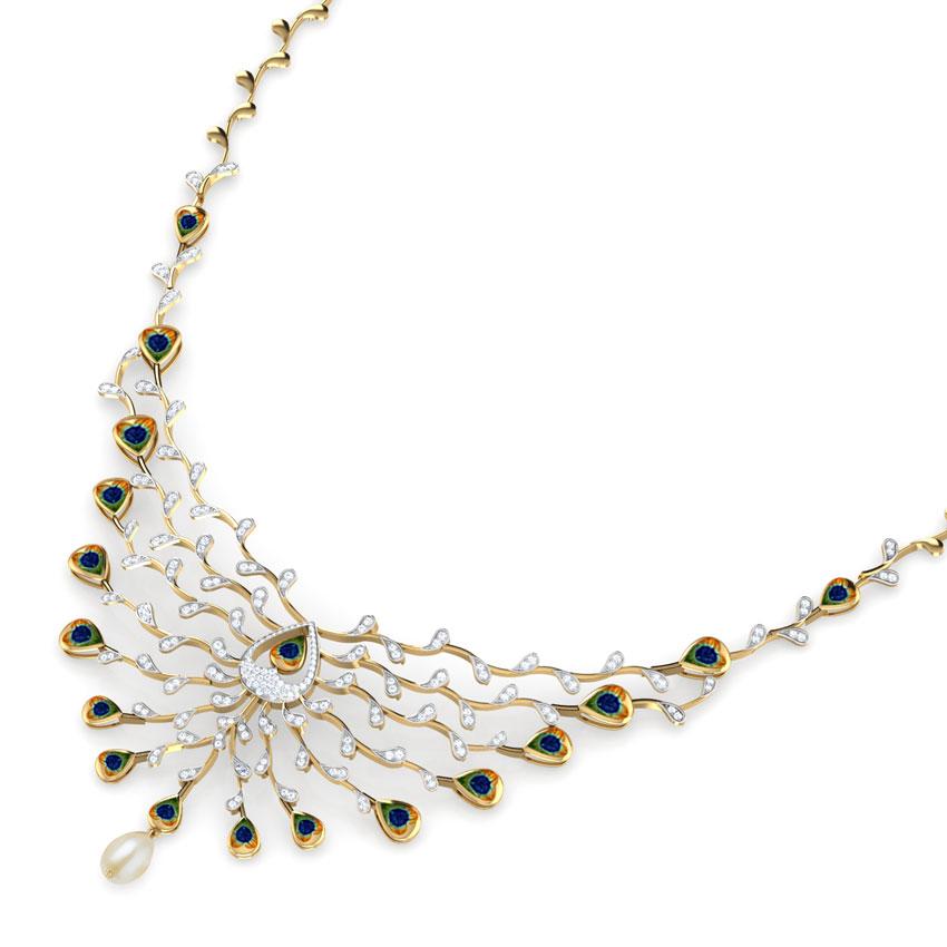 Ritzy Peacock Necklace