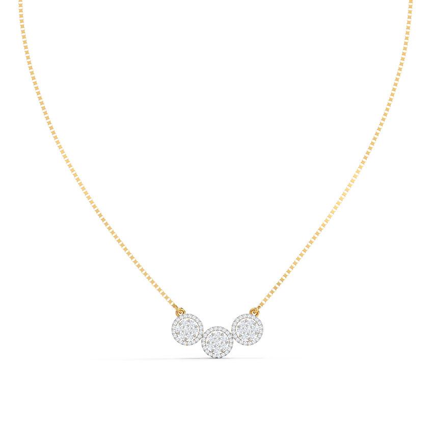 Diamond Necklaces 18 Karat Yellow Gold Ashley Seven Stone Diamond Necklace
