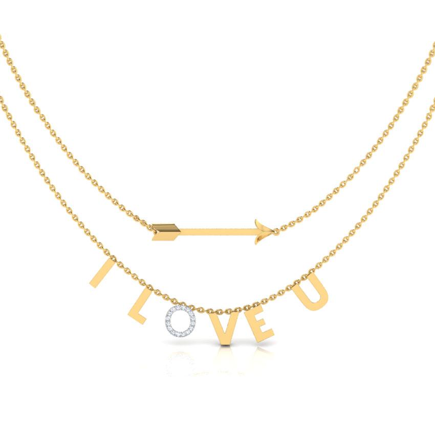 I Love U Layered Necklace