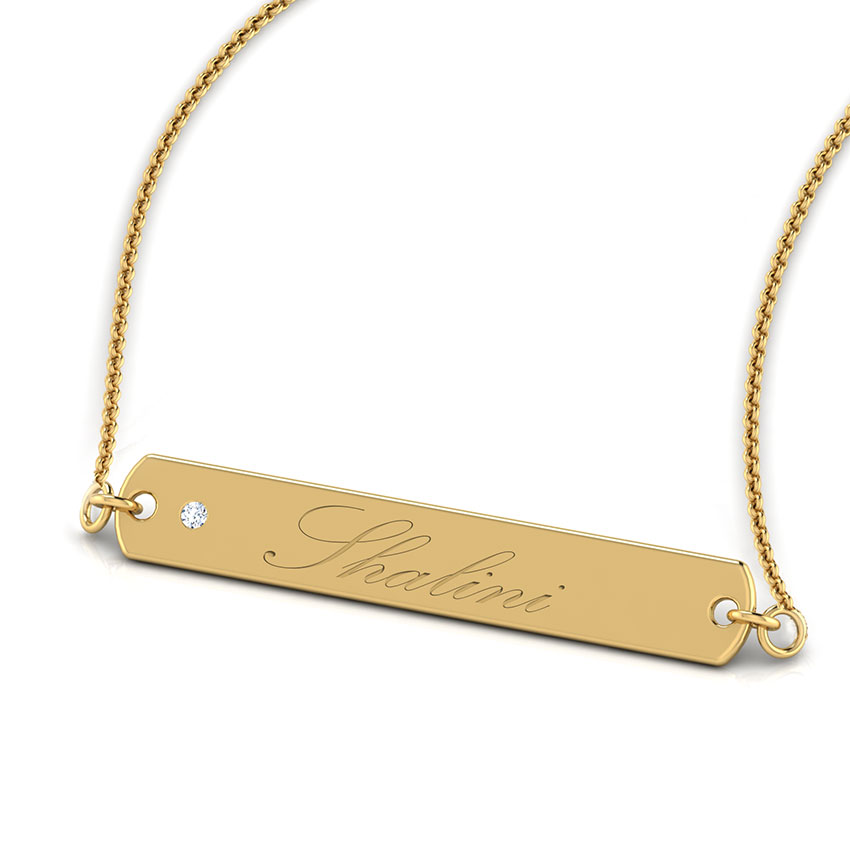Linear Bar Personalised Necklace