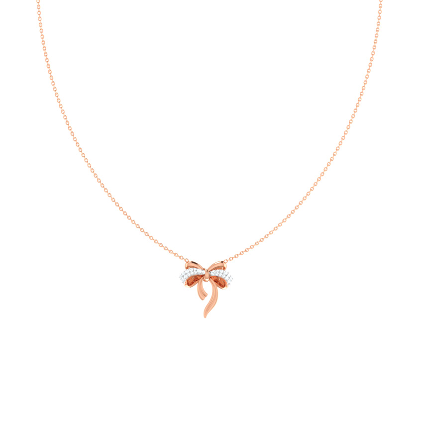 Cute Bow Chain Necklace