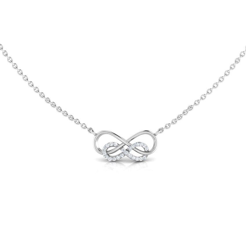 Intertwined Infinity Diamond Necklace