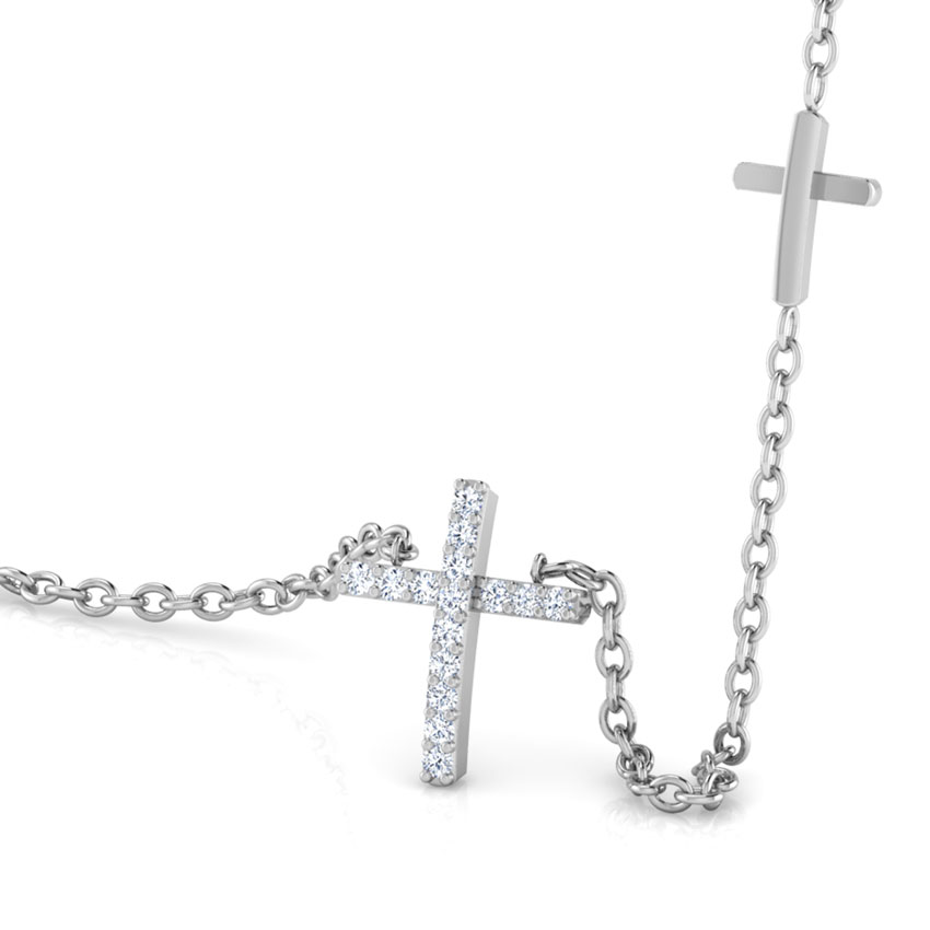 Cross of Jesus Diamond Necklace