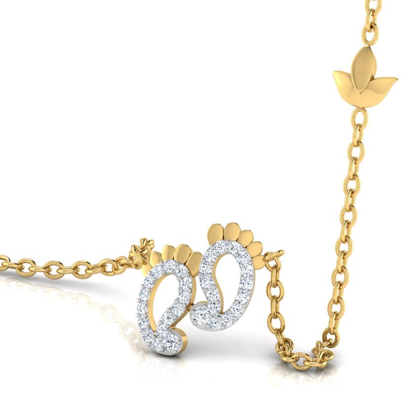 Lakshmi Feet Diamond Necklace