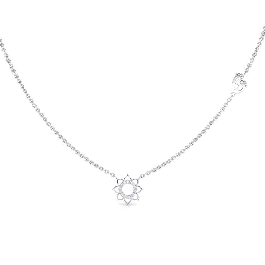 Lakshmi Lotus Chain Necklace