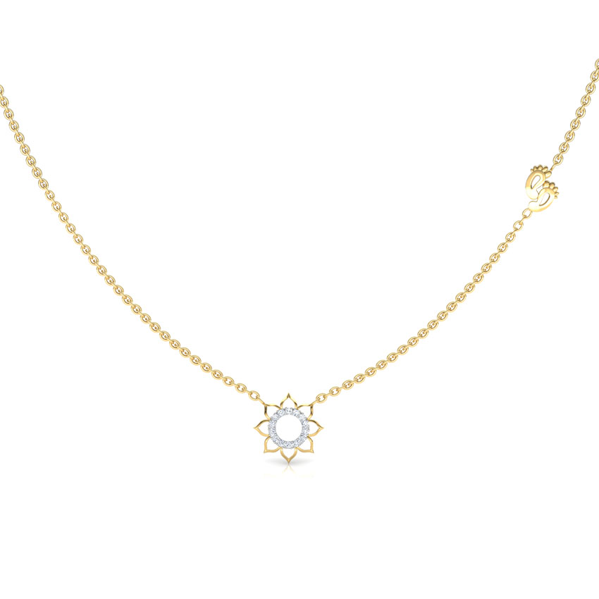 Lakshmi Lotus Chain Necklace