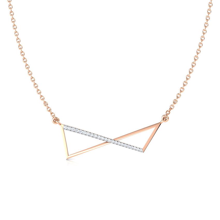 Diamond Necklaces 18 Karat Rose Gold Flux Geometric Diamond Necklace