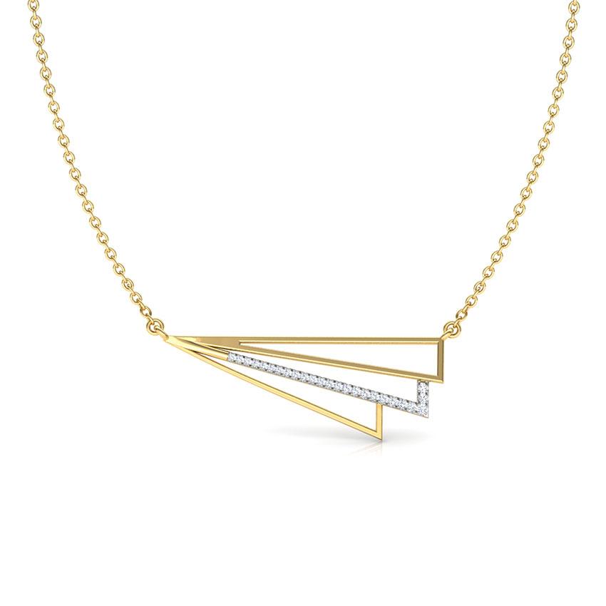 Stripes Geometric Necklace